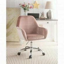 ACME Eimer Office Chair - 92504 - Peach Velvet & Chrome