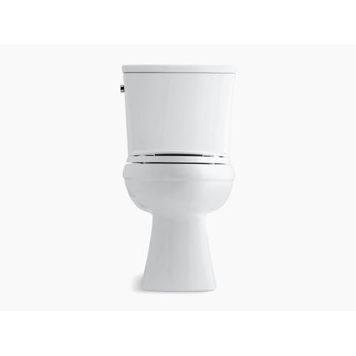 White Two-piece Elongated 1.6 Gpf Chair Height Toilet