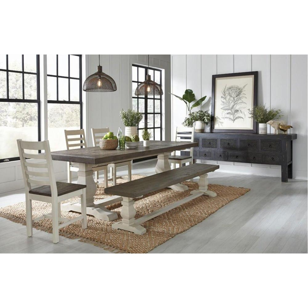 """Caleb 94"""" Dining Table Lark Brown/Classic Ivory"""