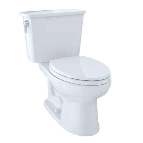 Product Image - Eco Drake® Transitional Two-Piece Toilet, 1.28 GPF, Elongated Bowl - Cotton
