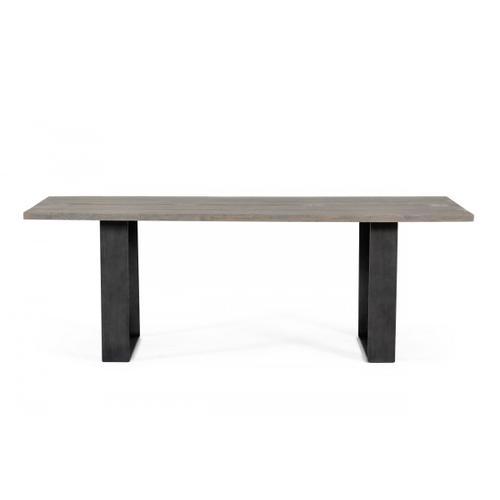 VIG Furniture - Modrest Murphy Modern Grey Aged Oak & Black Metal Dining Table