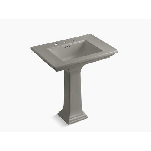 "Cashmere 30"" Pedestal Bathroom Sink With Widespread Faucet Holes"