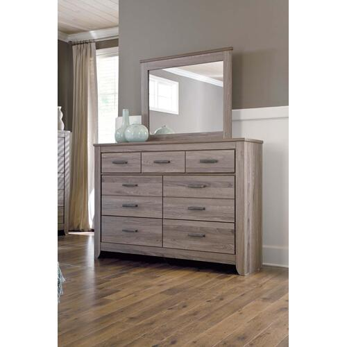 Zelen Bedroom Mirror Warm Gray
