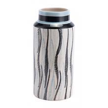 Small Espiga Vase White & Black