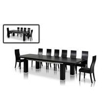 View Product - Modrest Maxi Modern Black Oak Dining Table