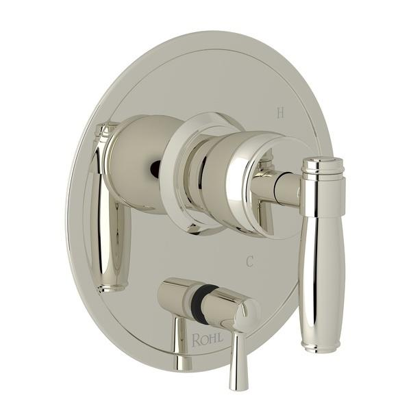 Polished Nickel Zephyr Pressure Balance Trim With Diverter with Metal Lever Zephyr Series Only