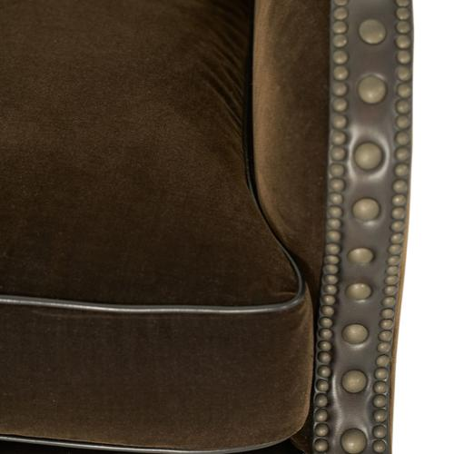 Fabric/leather Club Chair