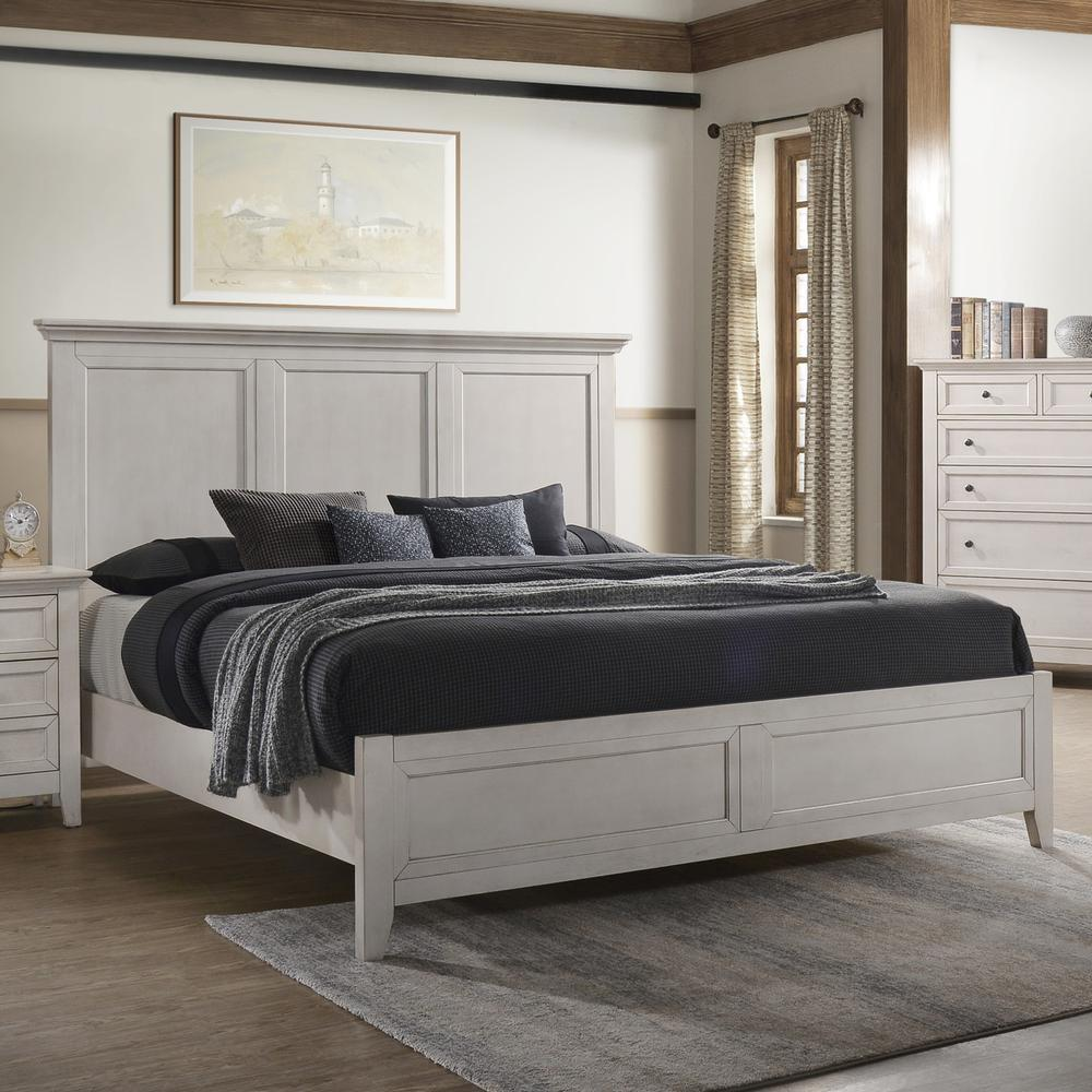San Mateo Standard Bed  White