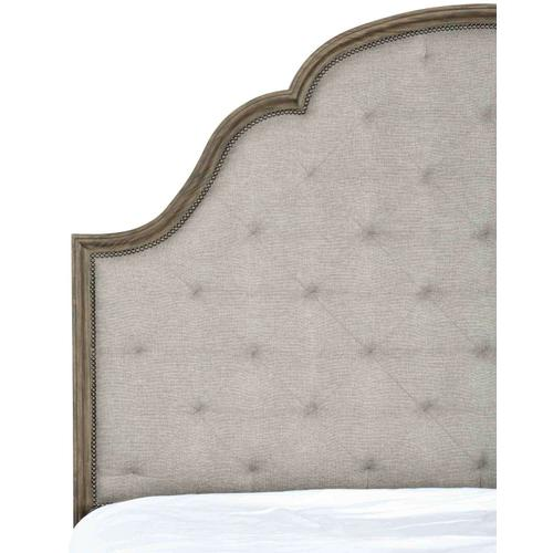 California King-Sized Canyon Ridge Upholstered Tufted Bed in Desert Taupe (397)