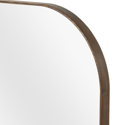 Large Size Spiced Oak Finish Bellvue Square Mirror