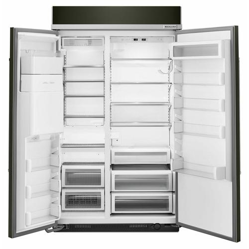 KitchenAid Black Stainless - 29.5 cu. ft 48-Inch Width Built-In Side by Side Refrigerator with PrintShield™ Finish - Black Stainless Steel with PrintShield™ Finish