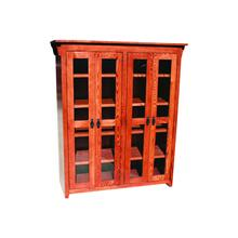 "Mission Oak 48"" Full Door Bookcase"