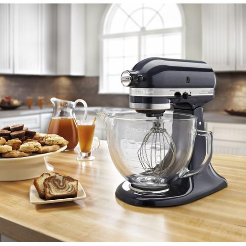 Artisan® Design Series 5 Quart Tilt-Head Stand Mixer with Glass Bowl Blueberry
