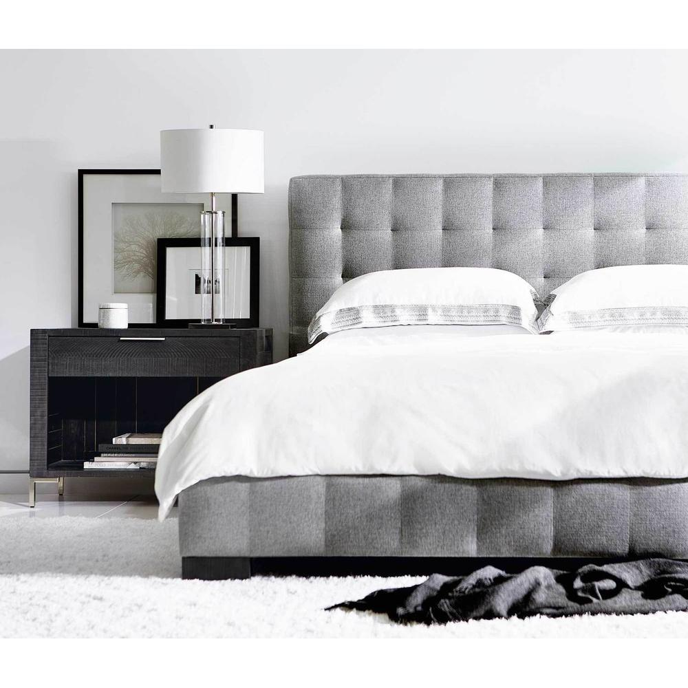 California King-Sized LaSalle Upholstered Bed in Cinder