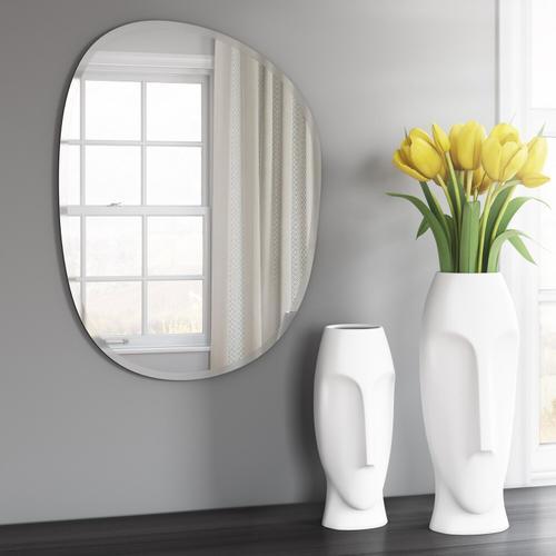 Howard Elliott - Abstract Faces Matte White Ceramic Vases (Set of 2)
