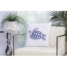 "Outdoor Pillows L1299 White 18"" X 18"" Throw Pillow"