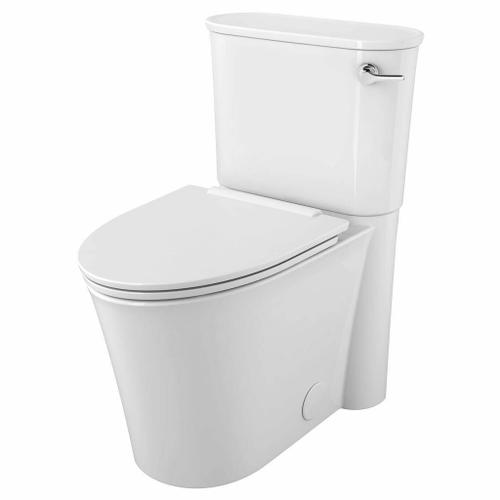 American Standard - Studio S Right Height Elongated Two-Piece Skirted Toilet with Seat and Right Hand Trip Lever  American Standard - White