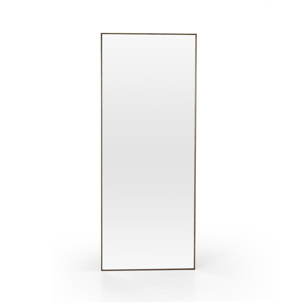 Spiced Oak Finish Bellvue Floor Mirror