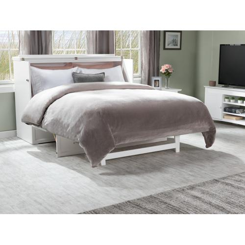Gallery - Deerfield Murphy Bed Chest Queen White with Charging Station