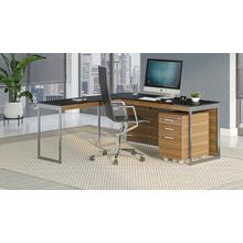View Product - Sequel 20 6107 Mobile File Cabinet in Natural Walnut