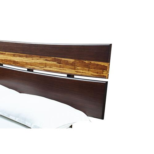 Azara California King Platform Bed, Sable
