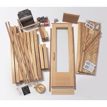 Custom Cut Sauna Room - 4x6 - 4.5kW Heater