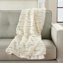"See Details - Fur Vv006 Ivory Gold 50"" X 60"" Throw Blanket"