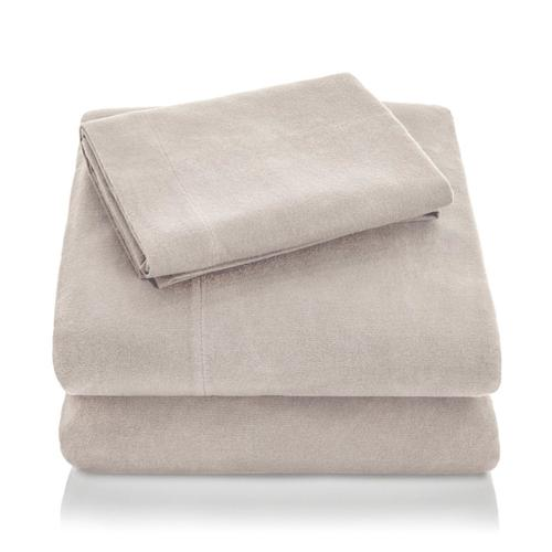 Portuguese Flannel King Pillowcase White