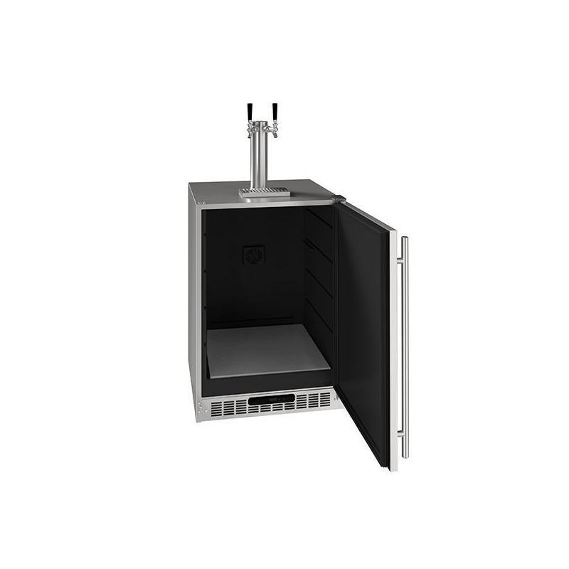 "24"" 2 Tap Beer Dispenser With Stainless Solid Finish (115 V/60 Hz Volts /60 Hz Hz)"