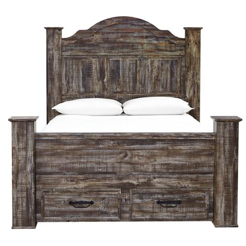 Ashley Furniture - Lynnton - Rustic Brown 5 Piece Bed (Queen)