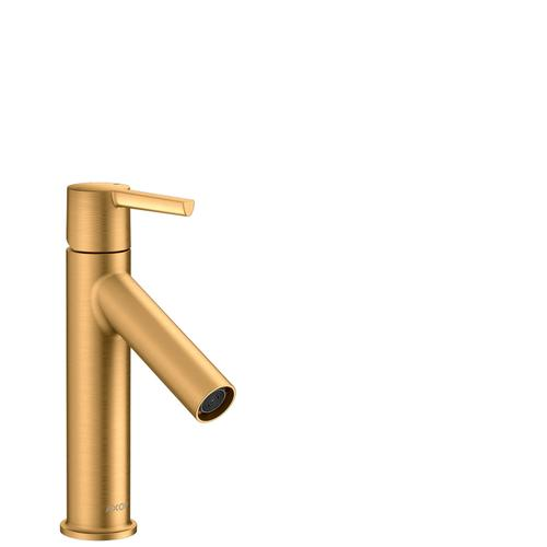 Brushed Gold Optic Single lever basin mixer 100 with lever handle and waste set