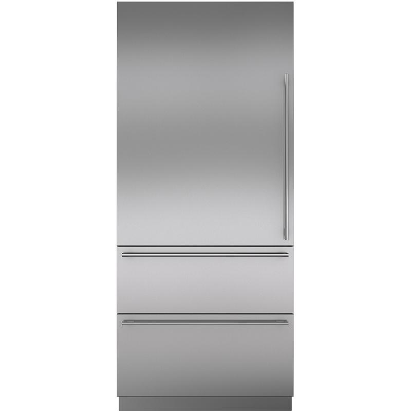 "Stainless Steel 36"" Door Panel with Tubular Handle - LH"