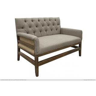 Tufted Love Seat w/ deconstructed Backrest