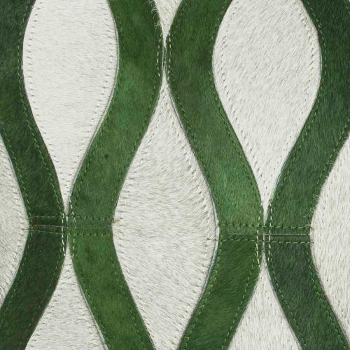 """Natural Leather Hide S2212 Green/grey 20"""" X 20"""" Throw Pillow"""