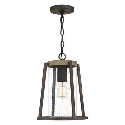 See Details - Brockton Outdoor Lantern in Rustic Black