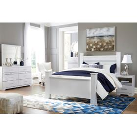 Jallory - White 5 Piece Bedroom Set