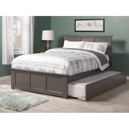 Madison Full Bed with Matching Foot Board with Urban Trundle Bed in Atlantic Grey