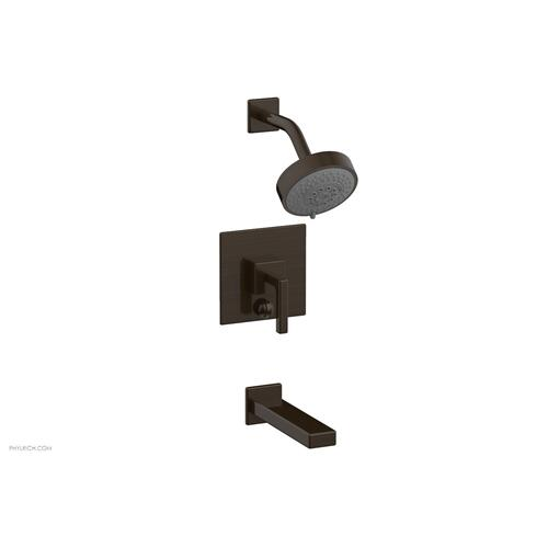 MIX Pressure Balance Tub and Shower Set - Lever Handle 290-27 - Antique Bronze