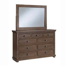 Dresser \u0026 Mirror - Auburn Cherry Finish