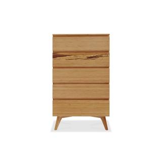 See Details - Azara Five Drawer High Chest, Caramelized