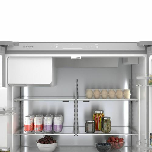 Bosch - 500 Series French Door Bottom Mount Refrigerator 36'' Easy clean stainless steel B36CD50SNS