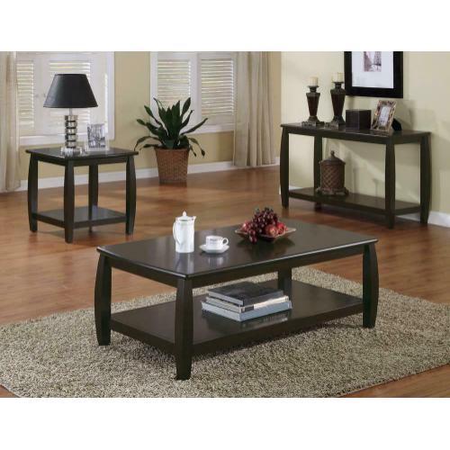 Wood Top Espresso Sofa Table