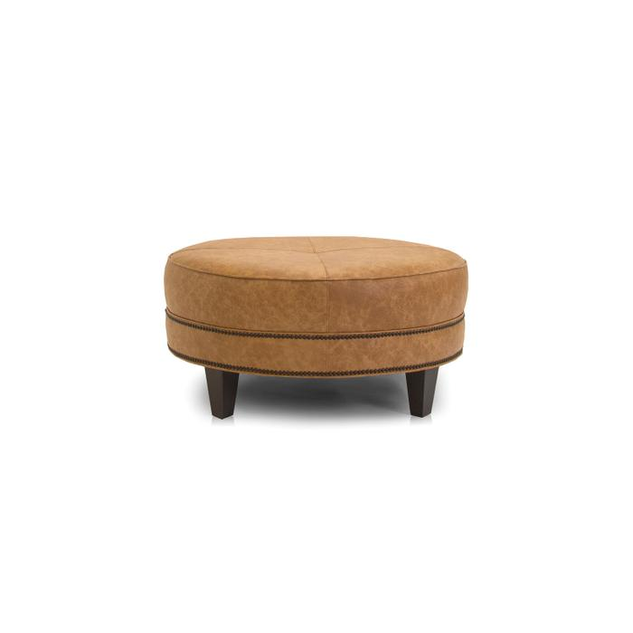 898-50 Leather Cocktail Ottoman