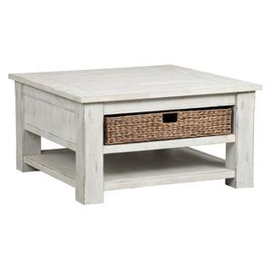 Square Cocktail Table - White Wash Finish
