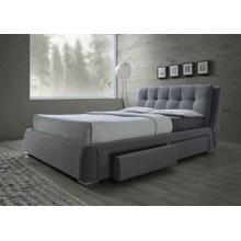 Fenbrook Transitional Grey Eastern King Bed