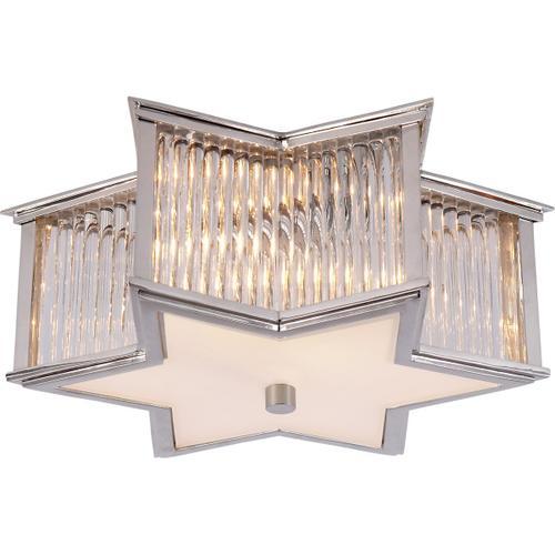 Visual Comfort - Alexa Hampton Sophia 2 Light 14 inch Polished Nickel with Clear Glass Flush Mount Ceiling Light in Polished Nickel and Crystal