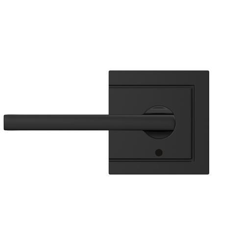 Custom Latitude Non-Turning Lever with Upland Trim - Matte Black