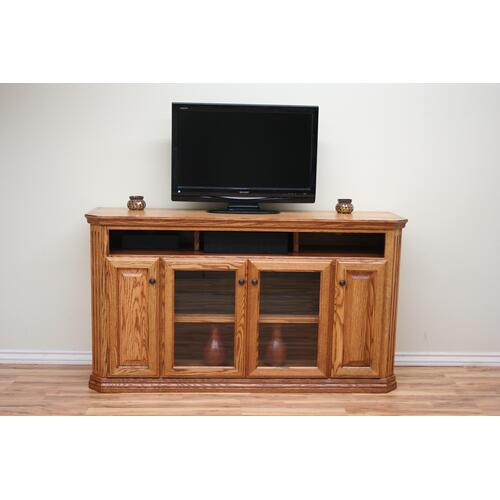 "O-TF301 Traditional Oak Fluted 65"" TV Console"