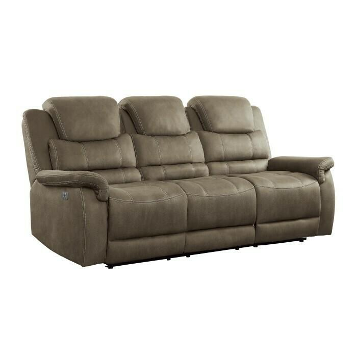 Product Image - Power Double Reclining Sofa with Power Headrests, Drop-Down Cup Holders, Receptacles and USB Ports