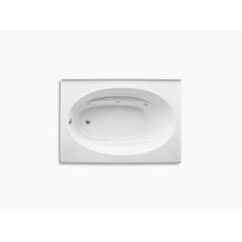 "Almond 60"" X 42"" Alcove Whirlpool With Integral Apron and Left-hand Drain"